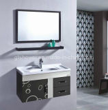 Wall Mounted Black Bathroom Cabinet (GD5836-2B)