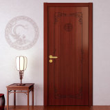 Oppein Chinese Style Red Cherry Wood Veneer Door (MSPD42)