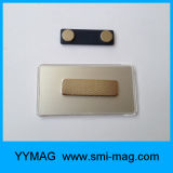 Blank Rectangular Neodymium Magnetic Plastic Name Tag Badge Holder