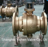 Aluminium Bronze Worm Gear Ball Valve for Sea Water