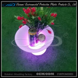 4 Leaf LED Ice Bucket with LLDPE Plastic Material