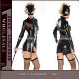 Sexy Lady Leather Catsuit Lingerie (TXX674)