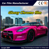 Rose Red Glossy Chrome Film Car Vinyl Wrap Vinyl Film for Car Wrapping Car Wrap Vinyl
