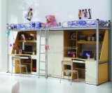 New Arrival School Dormitory Student Bunk Bed with Study Desk