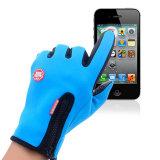 Waterproof Winter Gloves Thermal Warm Fleece Gloves Man Women Anti-Slip Water Resistant Anti-Shock Zipper Gloves