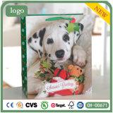 Paper Bag, Christmas Spot Doggie Paper Bag, Gift Paper Bag