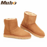 Lady Winter Ankle Shoes Women′s Snow Boots in Chestnut