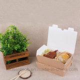 Plain Corrugated Paper Box Take Away Fast Food Packaging