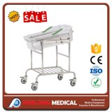 Hb-36 Hospital Bed Stainless Steel Infant Bed with Transparent Bassinet