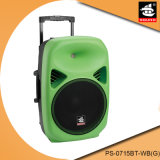 15 Inch Colorful Plastic Trolley Battery Speaker PS-0715bt-Wb (G)