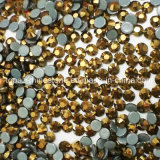 2018 Newest Hot Selling 5A Gold Hot Fix Rhinestone Glass Crystal Copy Preciosa Stone (HF-ss16gold)