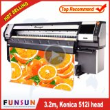 Funsunjet Fs-3208K Big Heavy Duty Large Solvent Inkjet Printer with Seiko 512I Head, 240sqm/H PVC Banner Printer