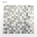 Black Crystal Square Colored Glass Tile Mosaic for Walls Decoration