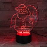 Christmas 3D LED Lights Bluetooth Speaker with Acrylic Materials Speaker