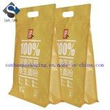 High Quality Print Flat Bottom Kraft Paper Bag with Zipper