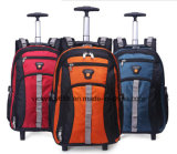 Double Shoulder Business Travel Wheeled Trolley Computer Laptop Bag Backpack