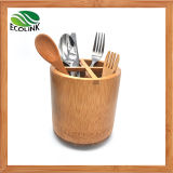 Rotatable Bamboo Utensil Holder /Bamboo Kitchen Utensil Organizer