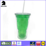 2016 New Products Plastic Cup with Cap and Straw