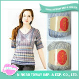 Wholesale Hand Knitting Colorful Soft Thin Acrylic Wool Nylon Fancy Yarn