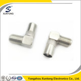RF Coaxial Connector F Type Female to PAL Male Right Angle Adapter