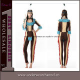Halloween Carnival Christmas Party Sexy Women Cosplay Indian Costumes (TLQZ3023)