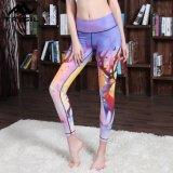 Mix Color Printed Gym Legging Yoga Long Pants for Women Sportswear