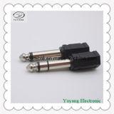 Black 6.35mm Stereo Plug to 3.5mm Mono Jack