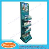 Metal Floor Standing Display Shampoo Rack with Shelf