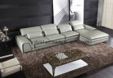 Modern Home Furniture Living Room Leather Sofa (UL-NS386)