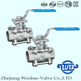 3PC Female Threaded Stainless Steel 304 Manual Ball Valve Dn50