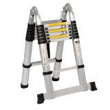 High Quality 3.8m Aluminium Telescopic Ladder with Hinge