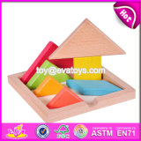 New Design Kids Creative Mind Puzzles Wooden Tangram Shapes W11d006