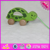 2016 Wholesale Baby Wooden Tortoise Pull Toy, Funny Kids Wooden Tortoise Pull Toy, Wooden Tortoise Pull Toy W05b142