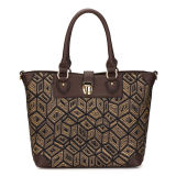 Weave Fabric Tote Lady Handbags (MBNO035065)
