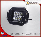 18W 1530lm Auto LED Driving Light with IP68 6000K Ce Rhos