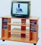 Home Furniture 3 Shelf Beech Color Antique TV Stand