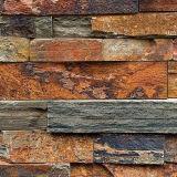 Rusty Natural Quartzite Cultured Stone Wall Cladding Panel