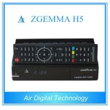 High-Tech Version Zgemma H5 HDTV Receiver Fatest CPU Dual Core Hevc/H. 265 DVB-S2+T/C Two Tuners