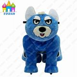 Walkiing Plush Happy Coin Operated Animal Scotter Rides for Shopping Center