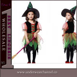 Party Costume Girls Classic Witch Child Costume (TCQ005)