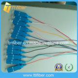 12 Core Sc Upc Singlemode Fiber Optic Pigtail
