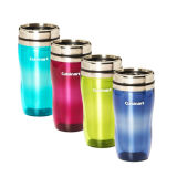 Stainless Steel Car Mug with Plastic Lid and Customized Logo