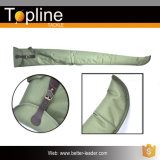 Fishing Tackle Bag with One Shoulder Strap and Leather Button