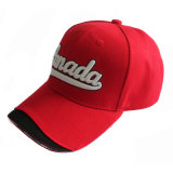 Cotton 100 Red Canada 6 Panel Sports Cap