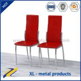 Home Furniture PU Leather Metal Dining Chair