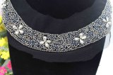 Silver Beads Collar on Garment Sew on Beads Neckline Applique (TA-008)