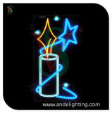 LED Candle Motif Light Christmas Street Decoration Light