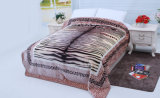 Hot Sale 100% Polyester Raschel Blanket Sr-B170305-12 Soft Printed Mink Blanket