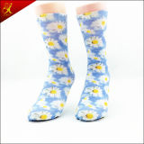 Printed Flower Seamless Sock