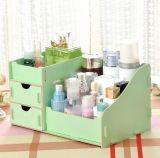 Fashionable DIY Creative Wooden Desktop Cosmetic Storage Box